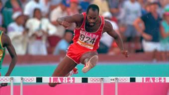 Edwin Moses an den Olympischen Spielen 1984 in Los Angeles