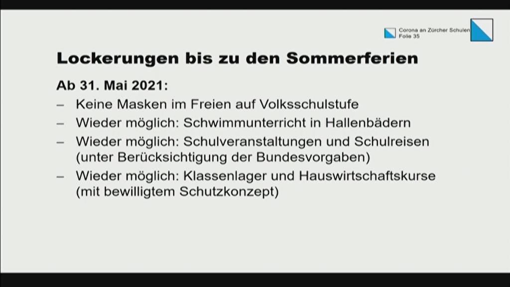 Kanton Zürich lockert Massnahmen an Schulen