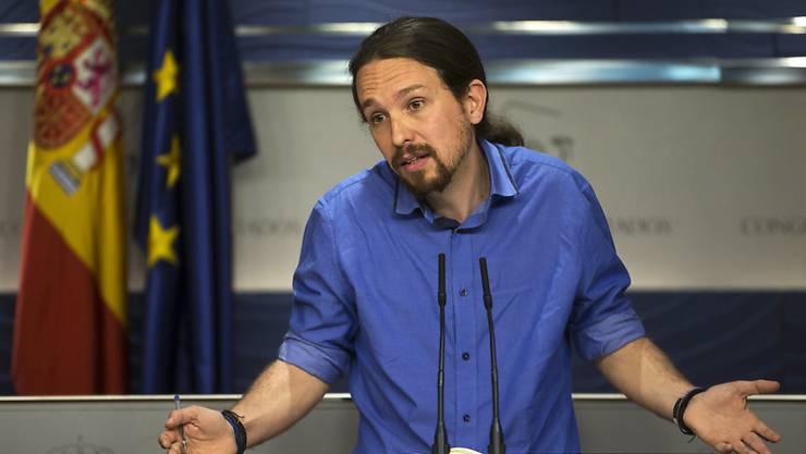 Seine Partei darf für die Neuwahlen in Spanien hoffen: Podemos-Chef Pablo Iglesias. (Archivbild)