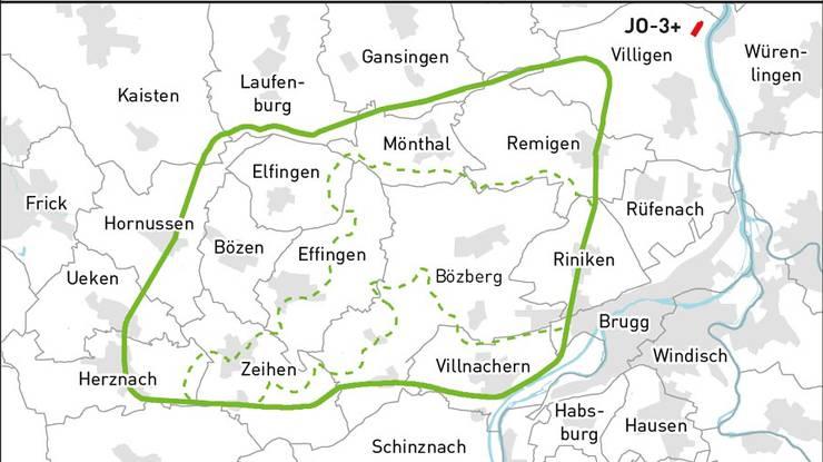 Das Gebiet Jura Ost rund um Bözberg