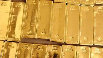 In Zürich bei der ZKB gelagerte Goldbarren (Archiv)