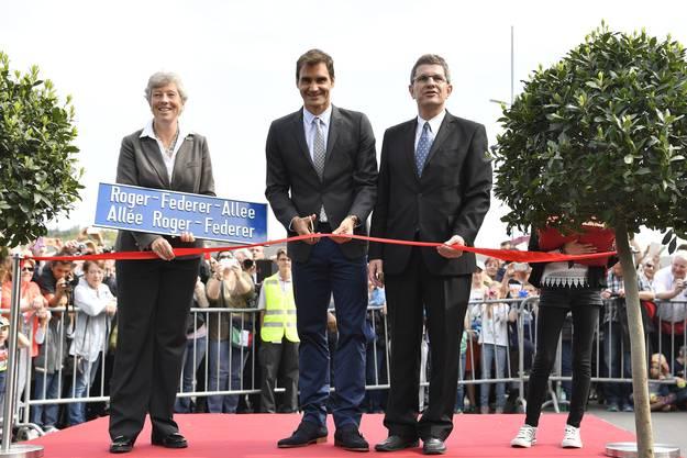 Roger Federer weiht seine Allee ein