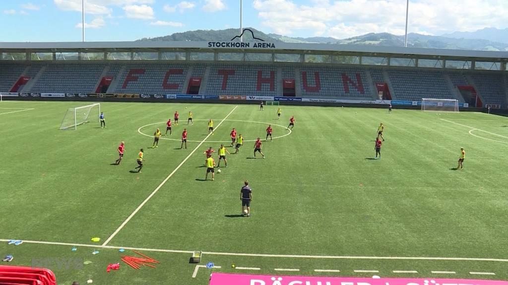 Trainingsstart: FC Thun bringt Ball wieder ins Rollen