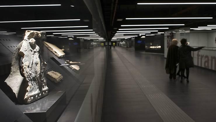 Die U-Bahn-Station San Giovanni ist zugleich Museum. Gezeigt werden Funde, die während den Bauarbeiten gemacht wurden. (Archiv)