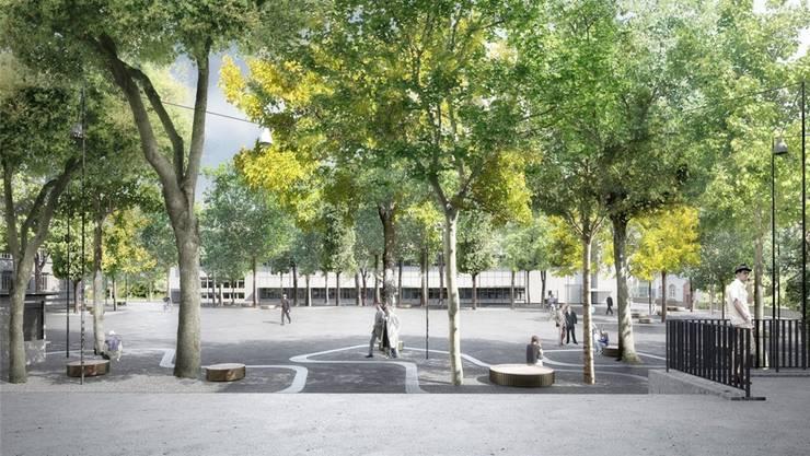 Der Brown-Boveri-Platz soll dereinst Badens Hauptveranstaltungsplatz werden.zvg
