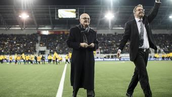 Der FC Schaffhausen trauert um seinen Präsidenten Aniello Fontana (links)
