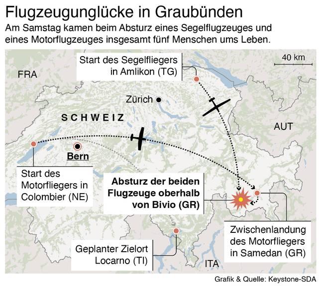 Flugzeugabstürze in Graubünden