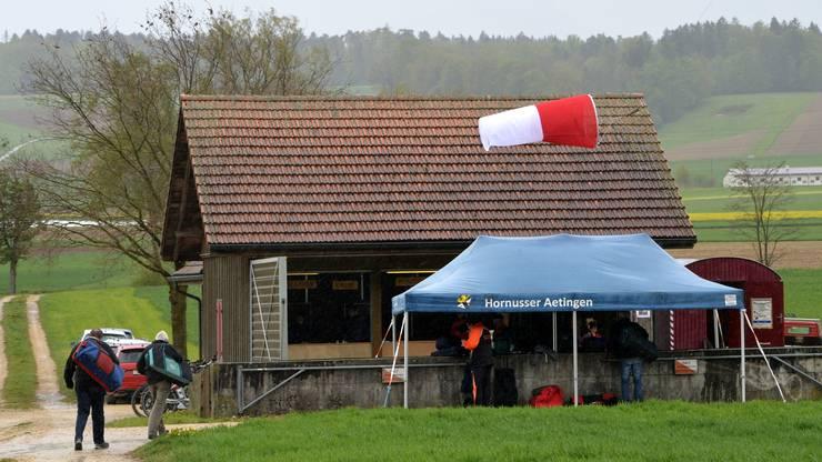 Beim Balmeggschiessen flatterte der Windsack im Limpachtal horizontal.