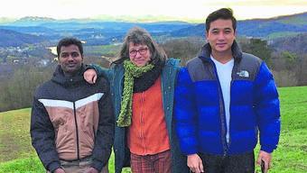 Su Freytag macht mit Migranten auch Ausflüge – hier ein Bild vom Bözberg mit Blick auf die Innerschweizer Alpen.