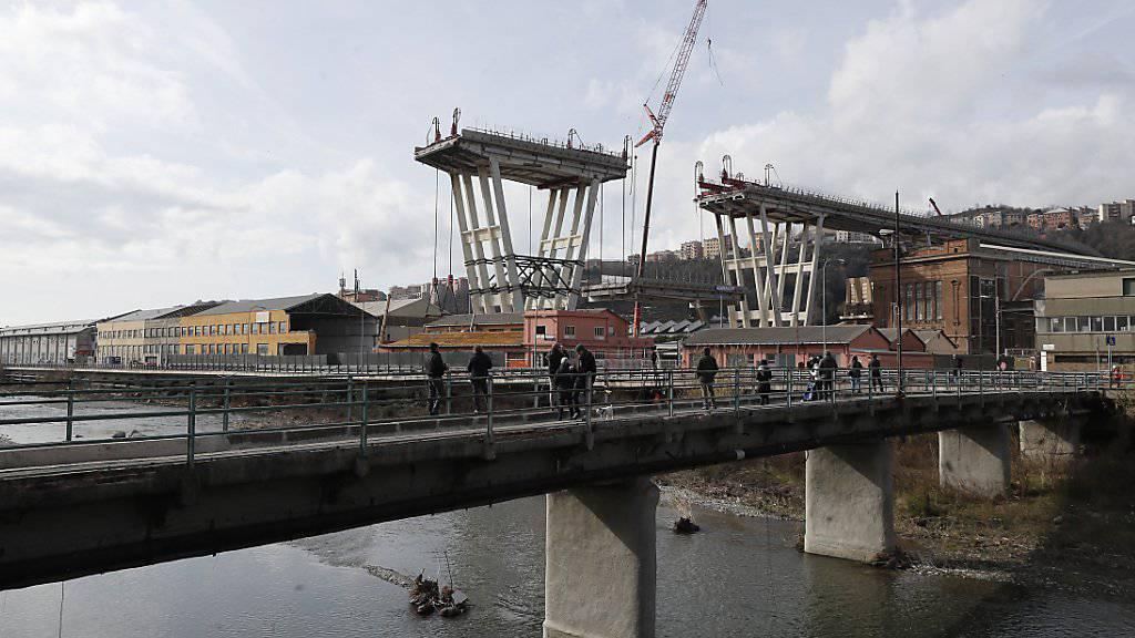 Vor sechs Monaten stürzte die Morandi-Brücke in Genua ein. 43 Menschen wurden getötet.