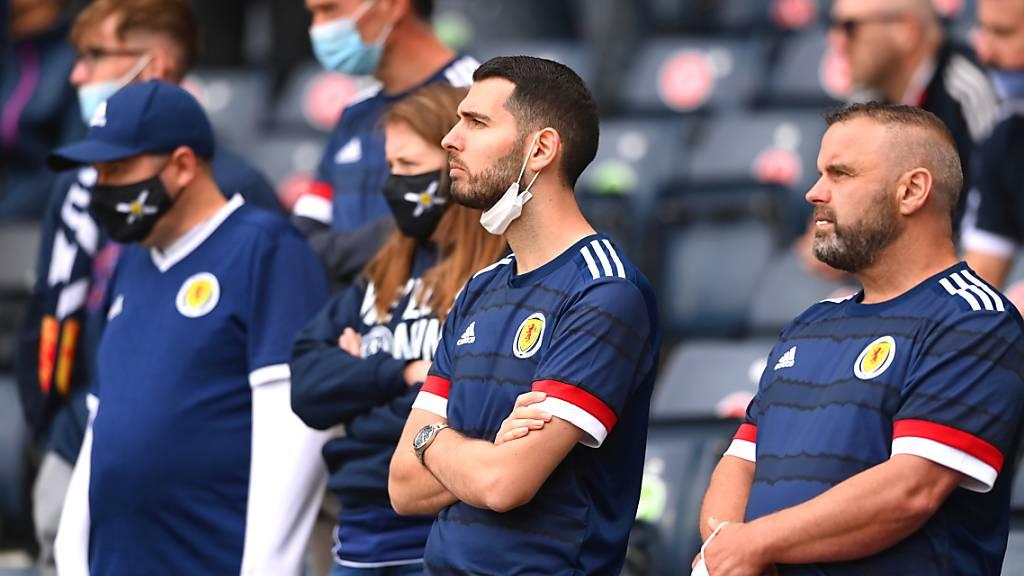 Die schottischen Fans hatten gegen Tschechien nichts zu lachen, aber wären durch einen Sieg gegen England für das enttäuschende EM-Debüt mehr als entschädigt