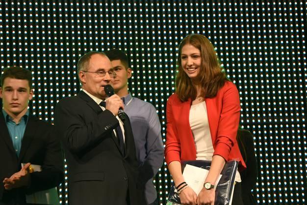 Salome Lang (Leichtathletik) wird Basler Nachwuchssportler des Jahres.