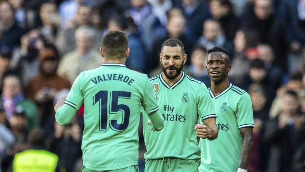 Jubel in Grün: Real Madrid schlägt in ungewohnter Farbe Espanyol Barcelona 2:0