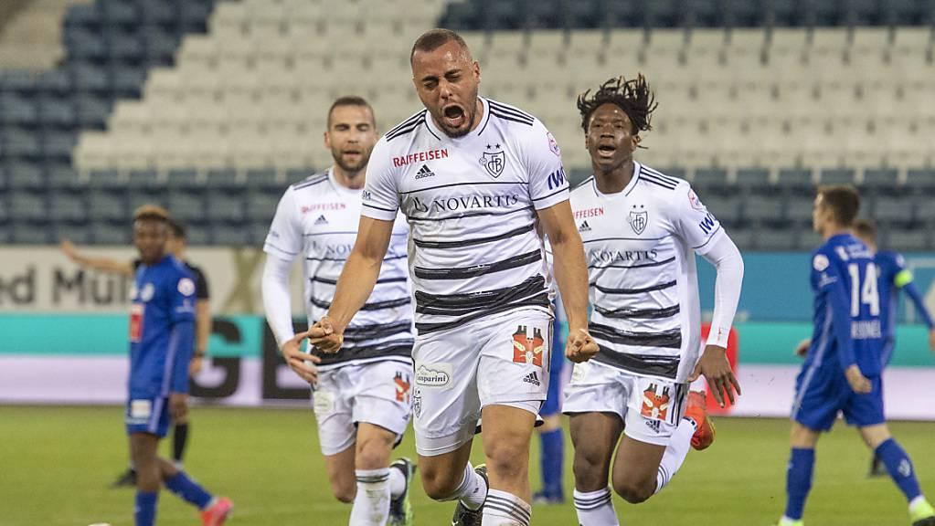 Pure Freude: Arthur Cabral nach seinem Siegestor für den FC Basel in Luzern