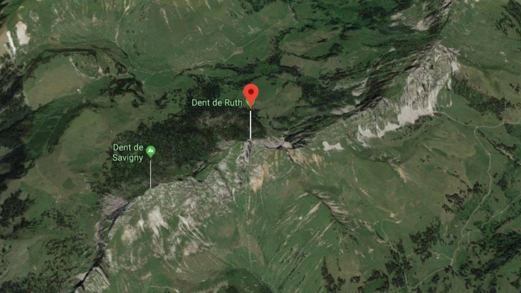 Am Fuss des Dent de Ruth haben Rettungskräfte am Freitag einen abgestürzten Wanderer nur noch tot bergen können.