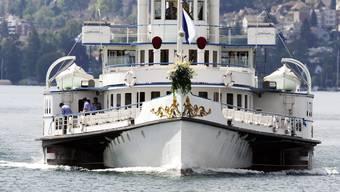 Weniger frequentiert als in den Vorjahren: Schiffe auf dem Zürichsee.