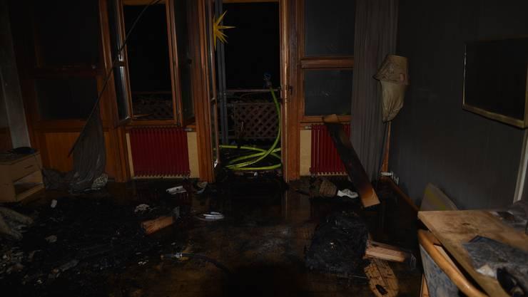 In diesem Klinikzimmer brach der Brand aus. Es wurde komplett verwüstet.