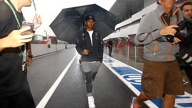 Auch WM-Leader Hamilton muss sich auf kräftigen Regen einstellen