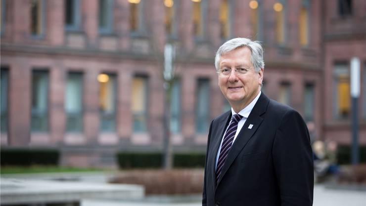 Der Freiburger Rektor Hans-Jochen Schiewer engagiert sich intensiv für den European Campus. Baschi Bender/Uni Freiburg