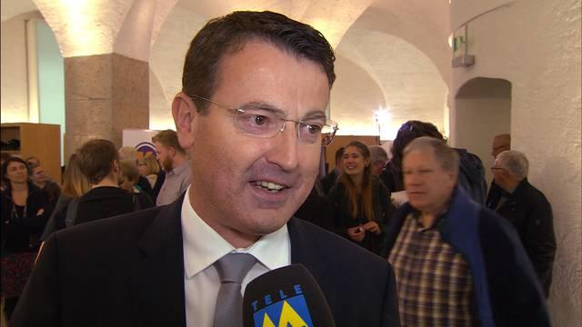 SVP im Aargau im Hoch: «Das ist fantastisch», freut sich Parteipräsident Thomas Burgherr am Wahlsonntag.