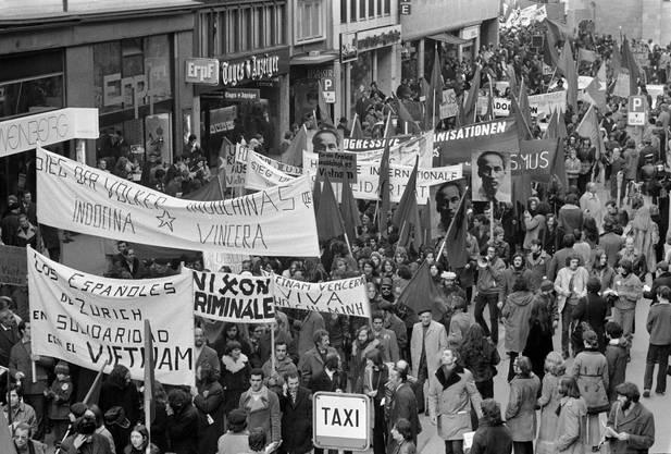 Auch in Zürich wurde vor bald 50 Jahren gegen den Vietnamkrieg demonstriert.
