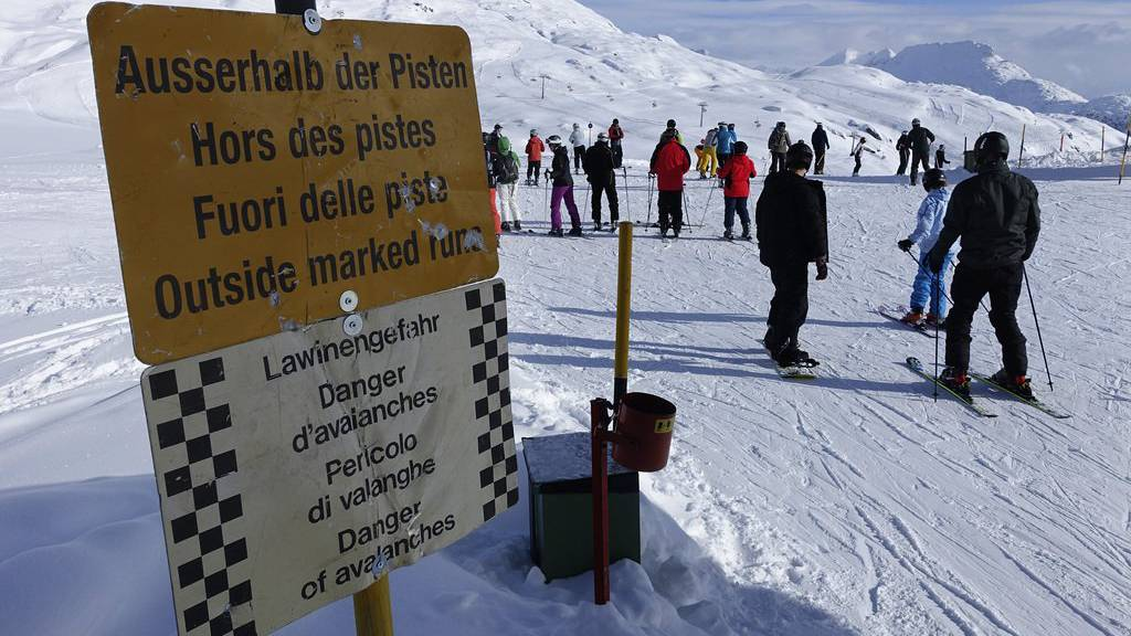 In den Skigebieten herrscht erhöhte Lawinengefahr.