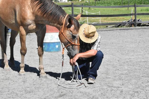 Horsemanship - das heisst auch, mit dem Pferd auf Augenhöhe sein