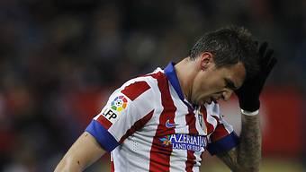Atleticos Mario Mandzukic trauert einer vergebenen Chance nach
