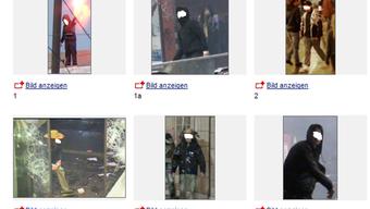 Die Polizei sucht Straftäter per Fotoaufruf.