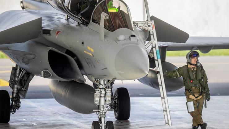 Reif fürs Museum? Französischer Kampfjet Rafale am 21.Mai bei den Flugtests in Payerne VD.