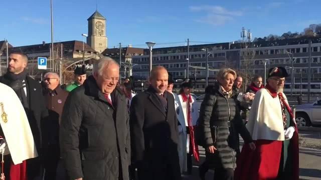 Karin Keller-Sutter im Heimatkanton St. Gallen gefeiert