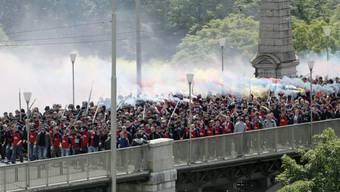 Schreckgespenst: Cupfinal-Fanmarsch 2013 in Bern (Archiv)