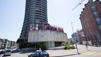 Bei den Notenbankgouverneuren herrscht für einmal Optimismus vor: Die Bank für Internationalen Zahlungsausgleich (BIZ) in Basel.