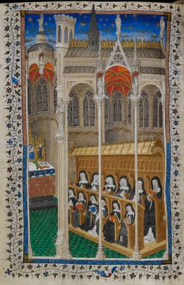 Aufwendiger Wandschmuck: Klosterbehang, Hortus conclusus, Basel, 1480, Wolle, Seide, Gold- und Silberlahn.