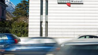 Der Hauptsitz der Groupe Mutuel in Martigny: Hier hatte Präsident Pierre-Marcel Revaz sein Büro bis im letzten Herbst. Keystone