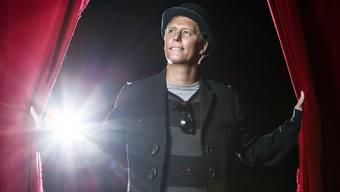 Gregory Knie im Zirkuszelt des «Salto Natale» in Kloten. Während des Gastspiels übernachtet er jeweils in seinem Wohnwagen. Chris Iseli