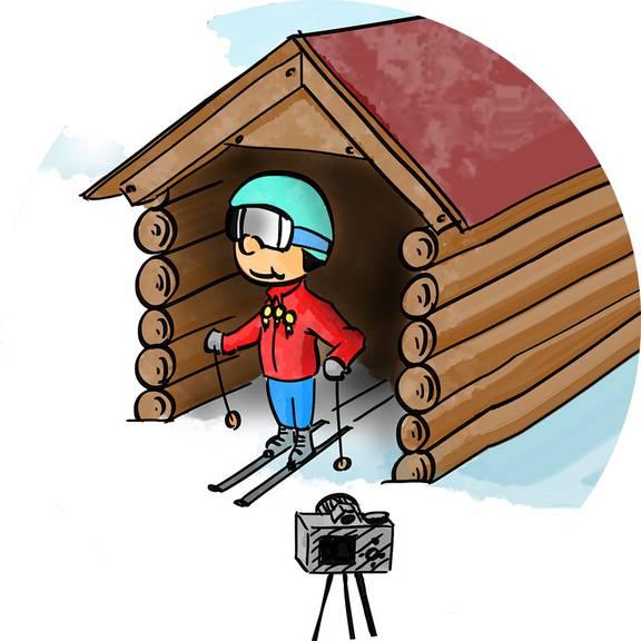 Ein Traum für viele Skifahrer: Der Start aus einem Weltcup-Starthaus.