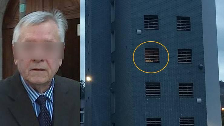 Andres Z. legte Feuer in seiner Zelle im 3.Stock.