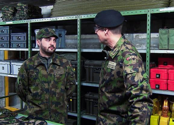 Cédric Wermuth (SP-Nationalrat) und Brigadier Stefan Christen vom Katastrophenschutz der Armee.