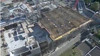 Das Bürgerspital im Aufbau.