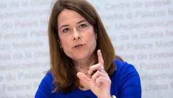 Petra Gössi, die Parteipräsidentin, hätte am 4. April zu den Delegierten sprechen sollen.