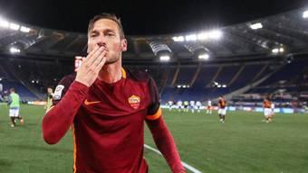 Ein treuherziger Ausnahmefussballer tritt ab: Francesco Totti.