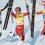 Da war die Welt noch in Ordnung: Frida Karlsson, Therese Johaug und Ingvild Flugstad Östberg (v. l.) bei ihrem Medaillengewinn über 10 km an der WM.
