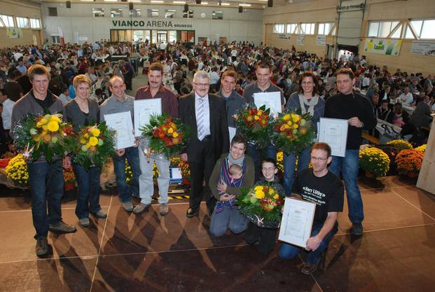 Innovative Bauern mit Regierungsrat Roland Brogli