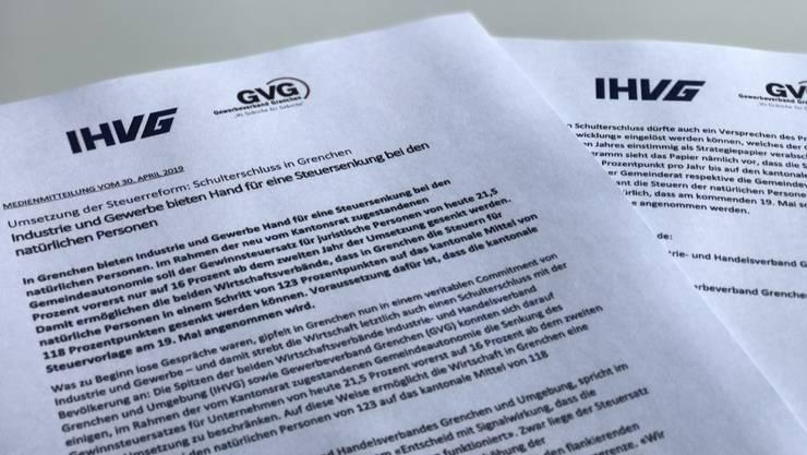 Medienmitteilung IHVG und GVG