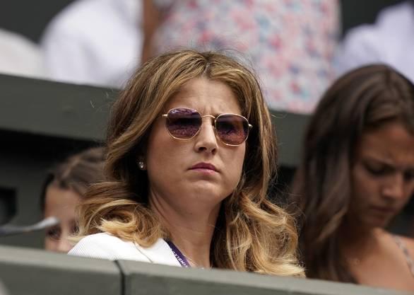 Der kritische Blick von Mirka Federer spricht Bände.
