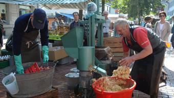 Die Brugger Innenstadt wird zum Bauernhof
