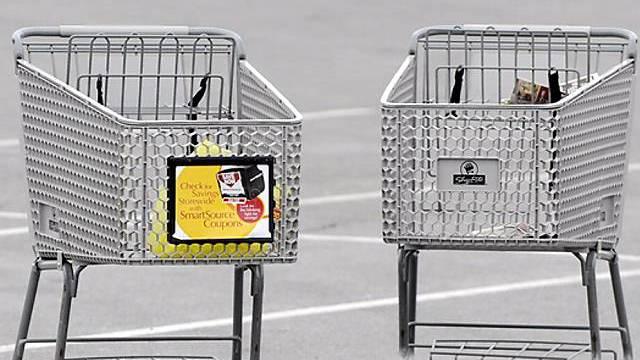 Einkaufswagen in Weehawken, New Jersey