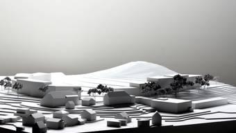 Das Modell der neuen Wohnlandschaft im Schöngrün