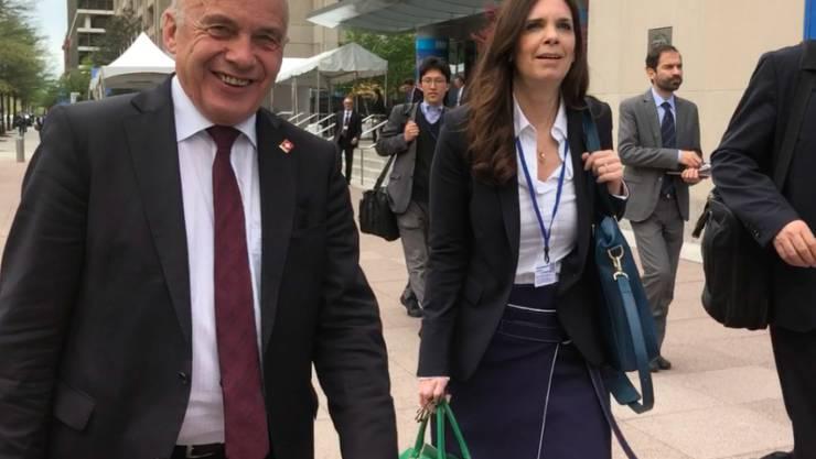 Bundespräsident Ueli Maurer war im April an der Frühjahrstagung des Internationalen Währungsfonds (IWF) und der Weltbank in Washington. Damals sprach er davon, dass die Blockade im Doppelbesteuerungsabkommen bald gelöst werden könnte.